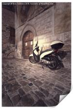 Italy Street Scooter, Print