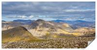 View from Scafell Pike, Print