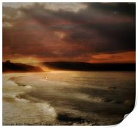 Whitby sunset, Print