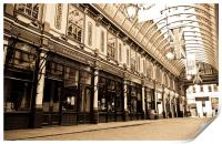 Leadenhall Market London, Print