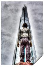 The Shard and Man Statue, Print