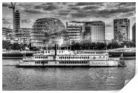The Dixie Queen Paddle Steamer, Print