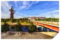 West Ham Olympic Stadium And The Arcelormittal Orb, Print