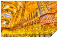 Barcelona Cathedral Art, Print