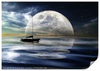 MOONLIGHT REFLECTIONS, Print