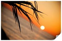 Sunset in Paphos Cyprus, Print