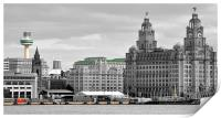 veiw from the mersey ferry, Print
