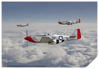 P51 Mustang - 334th Fighting Eagles, Print