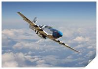 P51 Mustang - Symphony in Blue, Print