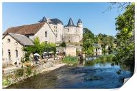 The Water Mill, Verteuil-sur-Charente, France, Print
