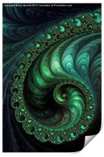 Fractal Emeralds -  A Fractal Abstract, Print