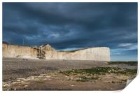 Storm Skies at Birling Gap, Print