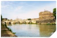St Peter's Basilica and Castel Sant Angelo Rome, Print