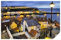 Dusk Over Whitby Town, Print