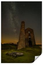 Milky Way Over Old Mine Buildings.No3, Print