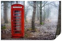 British phone box , Print