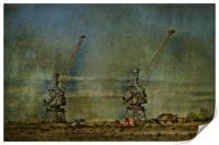 Cranes On The Swale, Print