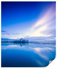 Reflections in blue, Print