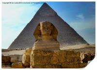 The Sphynx and Great Pyramid, Print