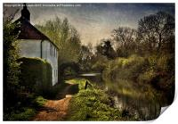 Cottage By The Kennet , Print