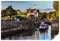 Goring on Thames Lock, Print