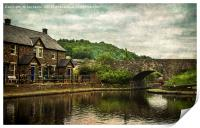 The Canal Basin At Brecon, Print