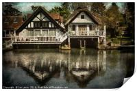 Boathouses at Goring on Thames, Print
