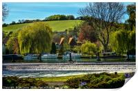 Across The Thames To Streatley, Print