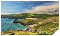 View Over Three Cliffs Bay, Print