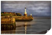 Early Morning At Maryport Harbour, Print