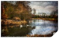 Winter Scene On The Kennet And Avon, Print