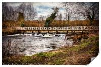 Sulhamstead Weir On The Kennet and Avon, Print