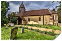 The Church of St Laurence in Tidmarsh, Print