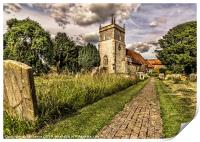 Bucklebury Parish Church Berkshire, Print