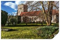 The Parish Church At Cookham, Print