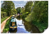 Boats On The Oxford Canal, Print