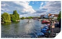 View Upriver From Henley Bridge, Print