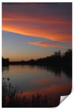 Murray River Sunset Series 1, Print