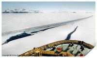 Ice Breaking in the Terra Nova Bay Antarctica, Print