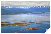 The Beagle Channel Aerial, Print