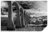 Larpool Viaduct, River Esk., Print