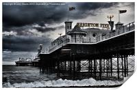 Brighton Pier amidst the storm, Print