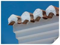 Andalucian roof tiles, Print