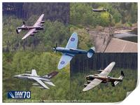 Dambusters 70 Years On The Derwent Dam, Print