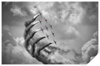 The Red Arrows - Moody Sky, Print
