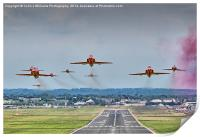 The Red Arrows Take Off - Farnborough Airshow , Print