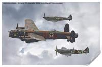 The Battle Of Britain Memorial Flight - Shoreham , Print