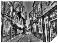 The Shambles York BW, Print