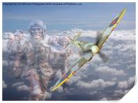 Out Of The Clouds - We Remember Them -  75 years , Print