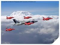 Final Vulcan flight with the red arrows 3, Print
